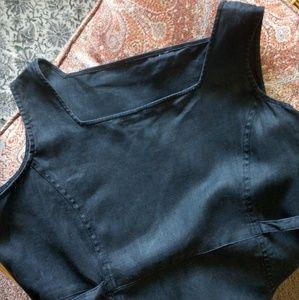 Black Linen Jumper